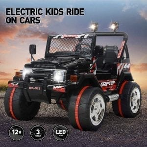Vosson Jeep 12V Power Electric Ride On 2 Seats Electric Remote Control