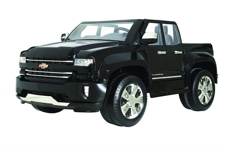 Chevy Silverado Truck Ride On Toy, 12V Battery, Black, Ages 3 up