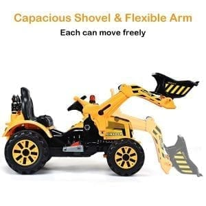 Costzon 12V Front Loader Digger Excavator Ride On Truck Toy