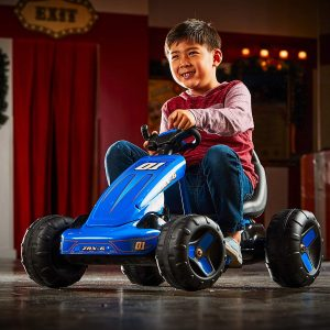 Go Kart Ride On Toy, Huffy, Blue, Pedal Battery Ages 3 to 7